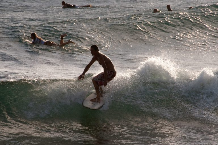 Surfing in St Barts