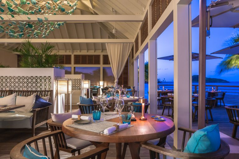 Sunset at restaurant Aux Amis in St Barts