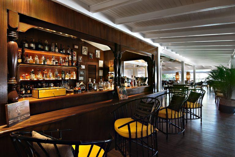 The rum and cigar bar at Villa Marie St Barth hotel