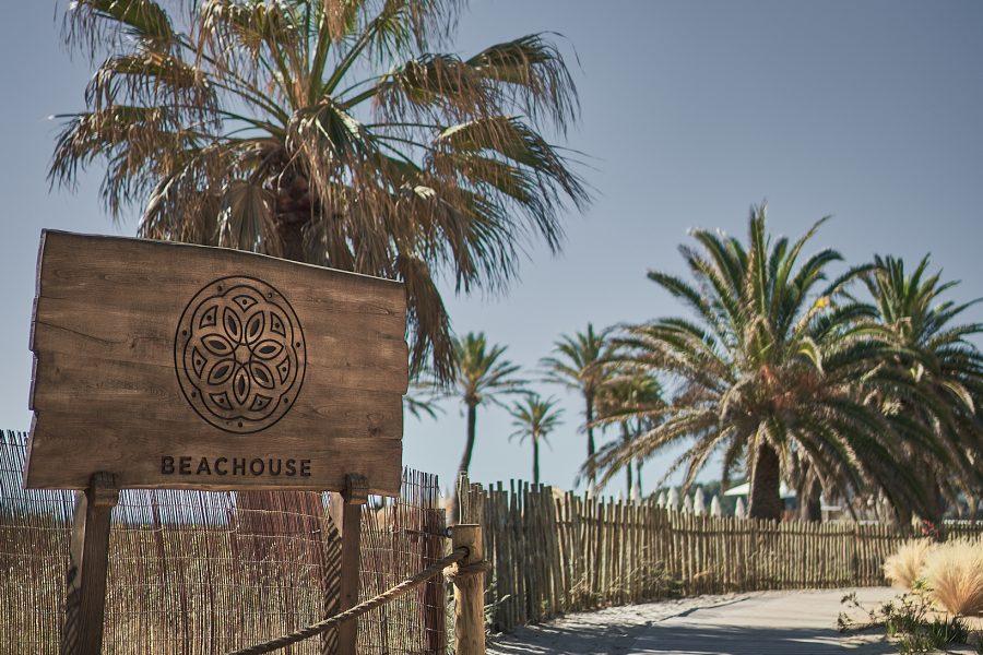 Entrance to BEACHOUSE Ibiza