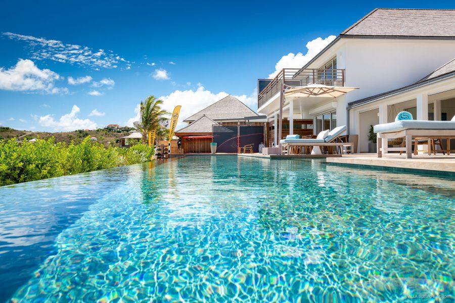 Pool views at Villa Aqua & Villa Bleu at Le Barthélemy