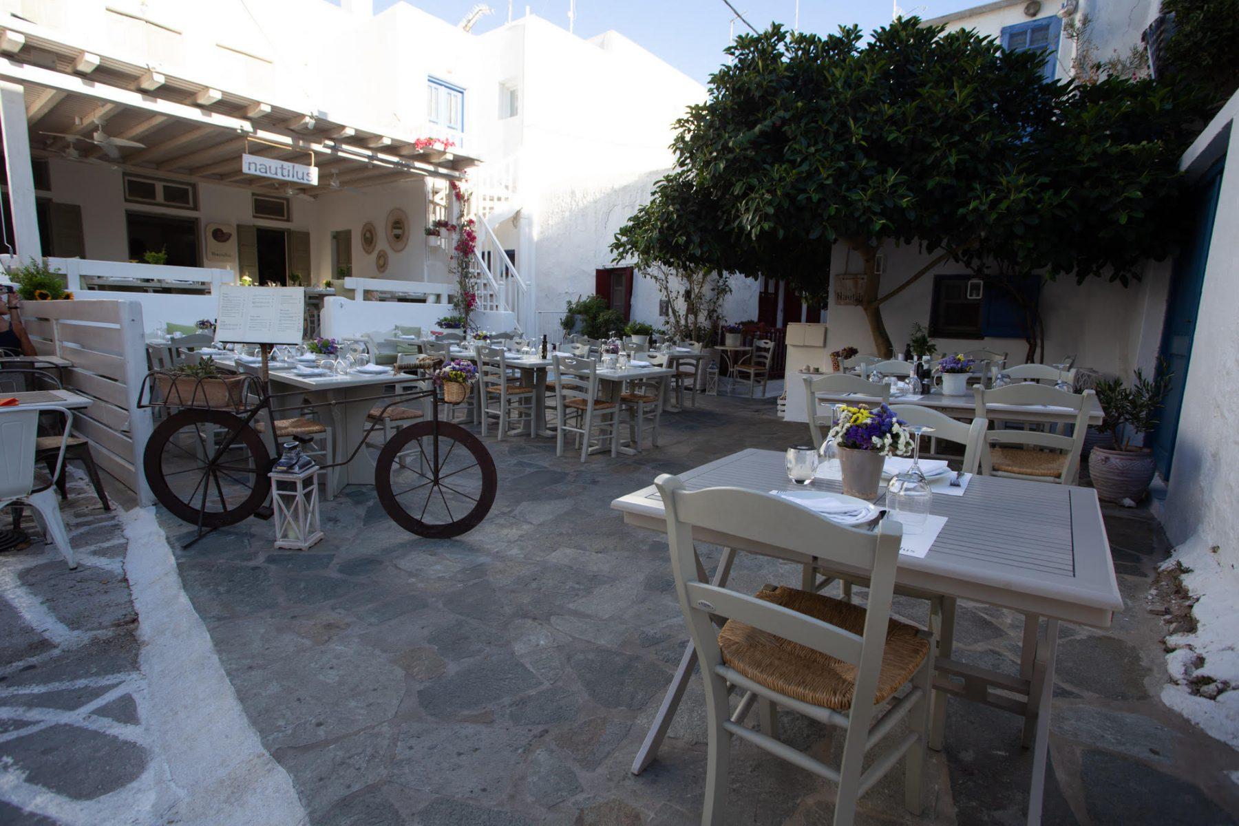 Nautilus restaurant in Mykonos