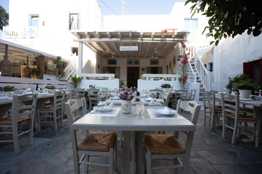 Nautilus fish restaurant in Mykonos