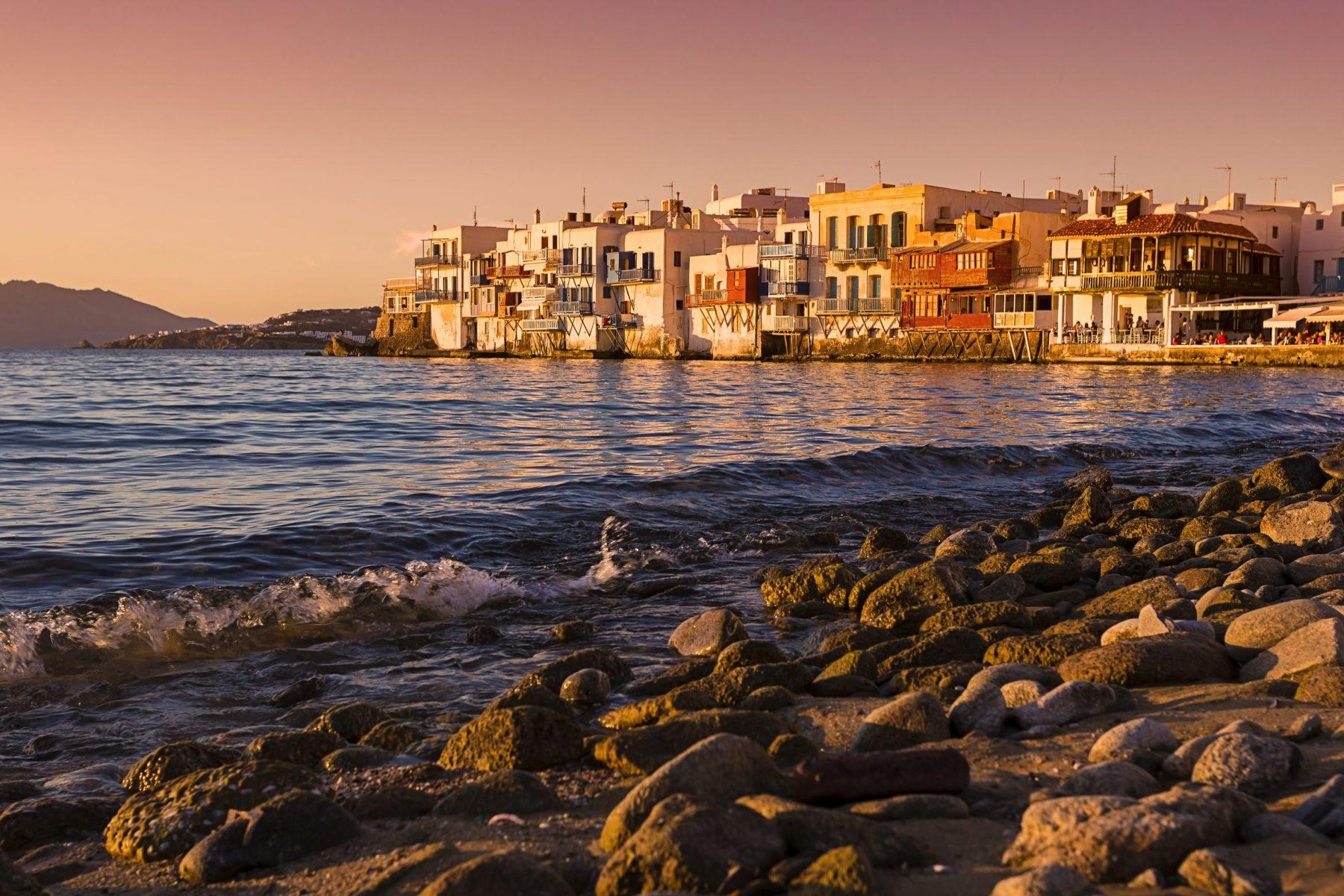 Mykonos Little Venice Sunset
